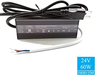 CATIYA 24V 60W LED Driver Transformer, IP67 Waterproof Constant Voltage Power Supply for LED Lights