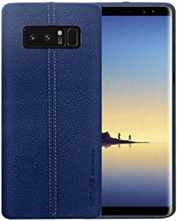 Usams Joe Series Faux Leather Case Cover with Screen Protector for Samsung Galaxy Note8 in Blue