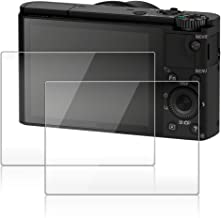 Screen Protector for Sony RX100III RX100II RX100 RX10III IV V RX 1R Camera, AFUNTA 2 Pack Anti-scrach Tempered Optical Glass