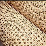 Rejilla Mimbre para reparación de sillas Calidad A, la máxima Calidad y resitencia en Rejilla Vegetal (46cm x 10...