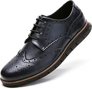 Gecatiso Men's Dress Shoes Causal Wingtip Brogue Oxfords