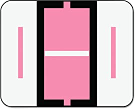 Smead BCCR Bar-Style Alphabetic Color-Coded Labels, Letter I, Pink/White Bar, 500 Labels per Roll (67079)