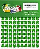 240 vierblättrige Kleeblätter, 15 mm, aus PVC Folie, selbstklebend, wetterfest, Glücksbringer Sticker Aufkleber