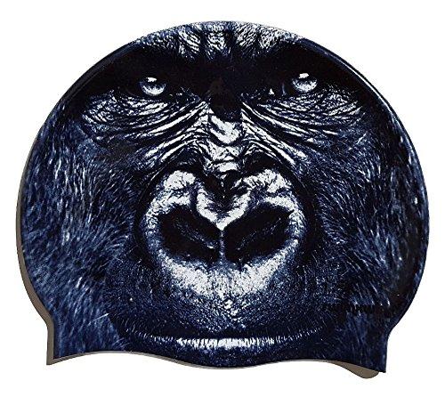 SWIMXWIN Cuffia in Silicone King Kong | Cuffia da Nuoto| Grande Comfort e aderenza | Design e Stile...