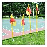 Fußball-Eckstange, Fahnenstange, abnehmbar, Fußball-Eckstange und Flaggen-Set, ABS-Sockel, 1,5m,...