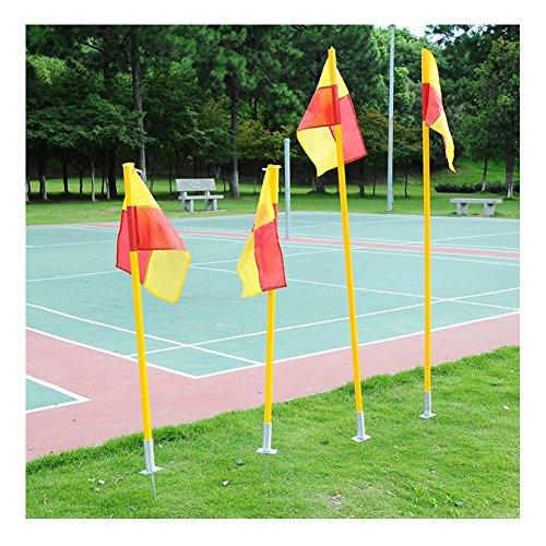 Fußball-Eckstange, Fahnenstange, abnehmbar, Fußball-Eckstange und Flaggen-Set, ABS-Sockel, 1,5m, 3Teile - Stange + Sockel + Flagge