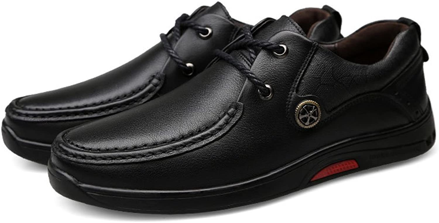 Men's shoes Leatherette Leather shoes Fall Winter Formal shoes Party & Evening Mens Driving shoes (color   Black, Size   40)