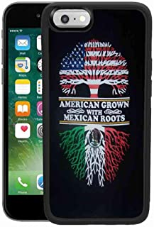 American Grown with Mexican Roots iPhone 6/6S Plus Case Pattern Black TPU PC Soft Edge Phone Case for iPhone 6/6S Plus