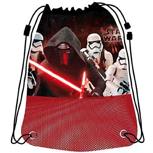 Disney Sac de Plage Grand Modèle Star Wars, AST3889, Rouge