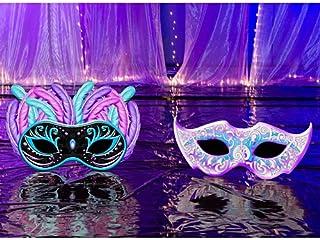 Small Masquerade Ball Mardi Gras Party Props Standup Photo Booth Background Backdrop Decoration Decor Scene Setter Cardboa...