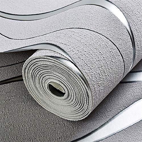 Behang 3D Gestreepte Behang Voor Muren Roll Overleven Kamer TV Achtergrond Wanddecoratie Papier Muurpapieren Home Decor Mod Papier Peint behang pasta Lichtgrijs
