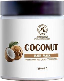 Maschera Cocco 250ml per Capelli con 100% Naturale & Puro Olio di Cocco - per la Crescita e il Volume dei Capelli - per Tu...