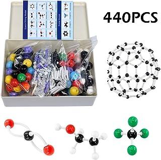 Tilcasoor Kit de Modelos Moleculares (440 Unidades) Química Orgánica Profesor Conjunto de Estudiantes Herramienta de Ayuda Química Química Enlaces para Crear Una Imaginación Espacial