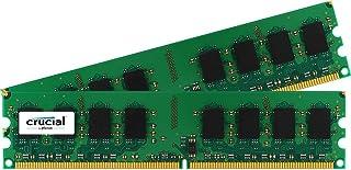 Crucial 2GB (1GBx2) DDR2-1066 (PC2-8500) Non-ECC 240-pin UDIMM Memory Module - CT2KIT12864AA1067/CT2CP12864AA1067