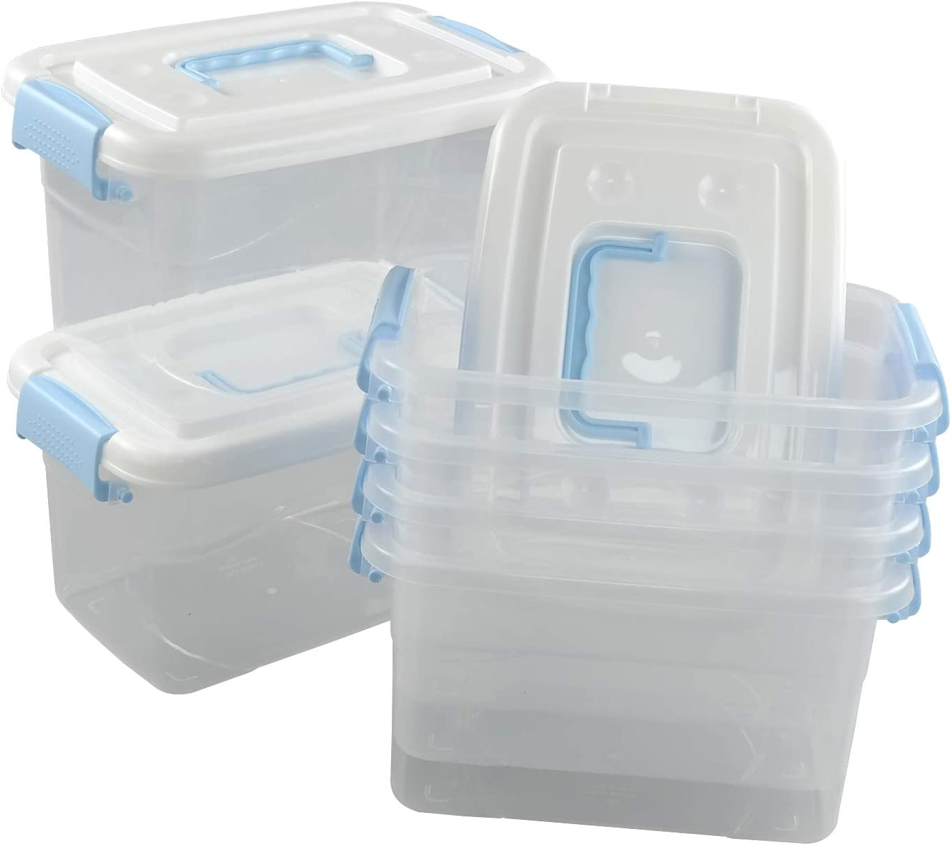 Jandson 5 favorite Manufacturer direct delivery Quart Clear Storage Bin Box with B Latching Container