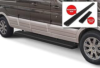 APS iBoard Running Boards 6 inches Matte Black Custom Fit 2015-2020 Ford Transit Full Size Van 3-Door (Nerf Bars Side Steps Side Bars)