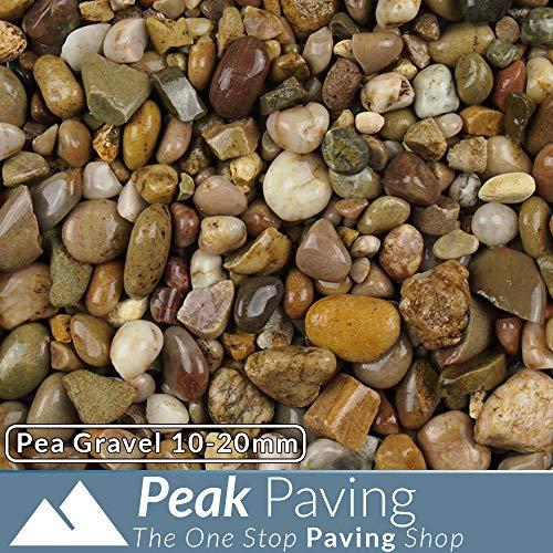 Pea Gravel Decorative Aggregates Slate Pebble Chippings Garden Gravel 10-20mm 20 Kg