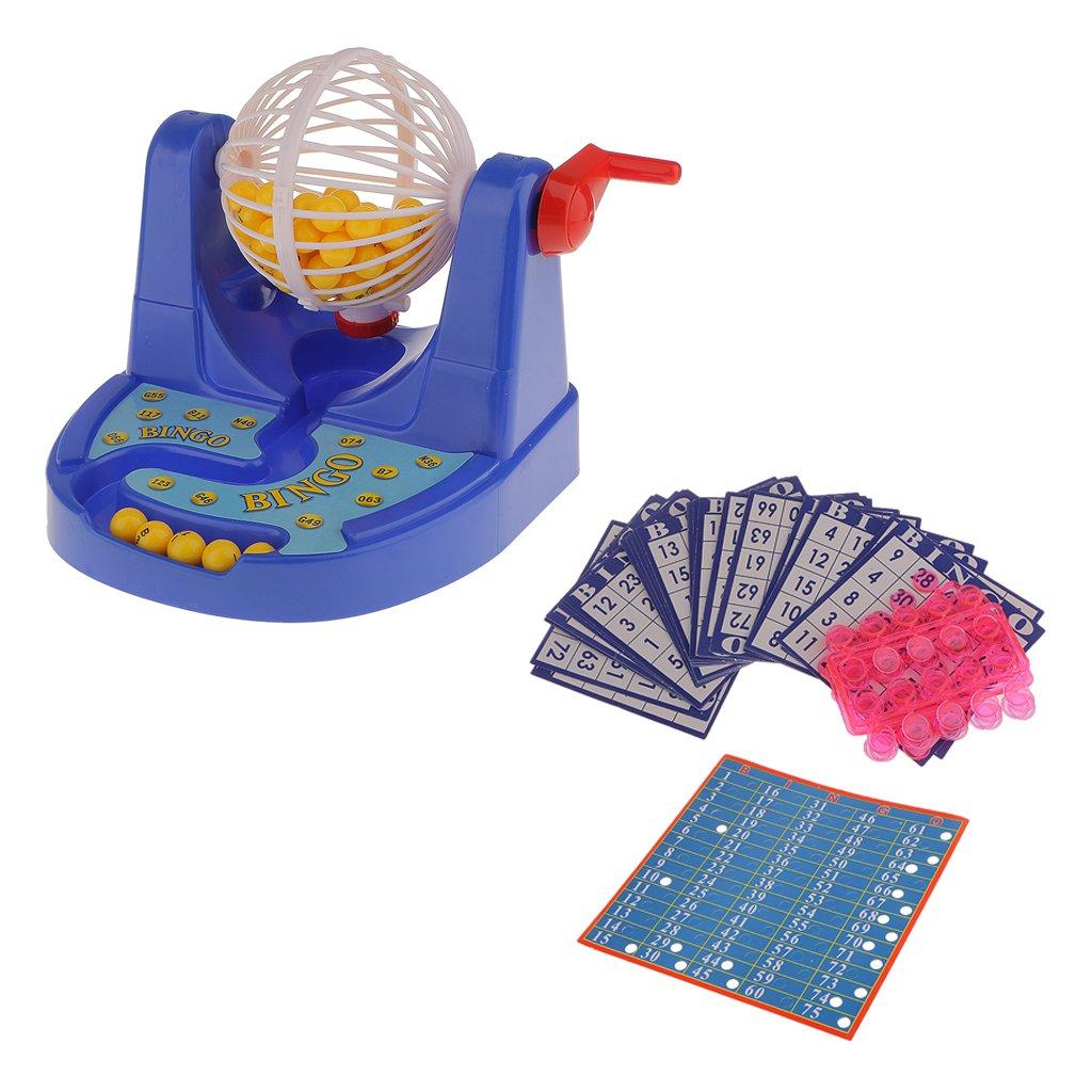 Juego de Mesa Mini Máquina de Bingo Bola de Lotería Fiesta Familia Niños: Amazon.es: Juguetes y juegos