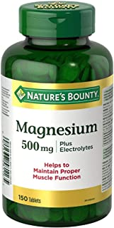 Nature's Bounty Magnesium 500 mg Plus Electrolytes, 150 Tablets
