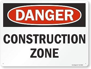 "SmartSign ""Danger - Construction Zone"" Sign | 18"" x 24"" Aluminum"