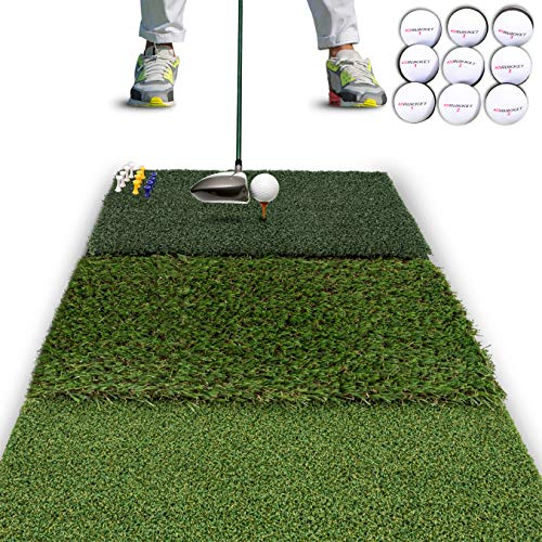 Rukket Tri-Turf Golf Hitting Mat