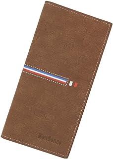 BeniMen's wallet long vertical volume big capacity wallet-light brown