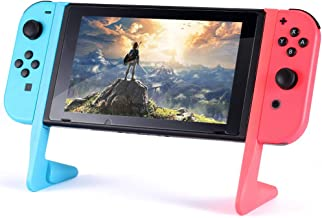 Braylin Compact Playstand for Nintendo Switch, Nintendo Switch Game Holder Multiport Usb Playstand, Golden Section Angle, Red and Blue