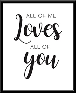 All of me loves all of you I love you Te amo Quote Frase Funny Blanco y Negro Cuadro decorativo Print Animales Regalo Arte Poster Cuadro Decorativo Art Wall Art Vintage Decor Home Decor Decoración Retro Hipster Cool