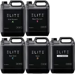 Elite Complete Line Bundle: A B C D E (BASE NUTRIENT, ROOT IGNITER, ROOT TONIC, RESIN) Quart Size Set