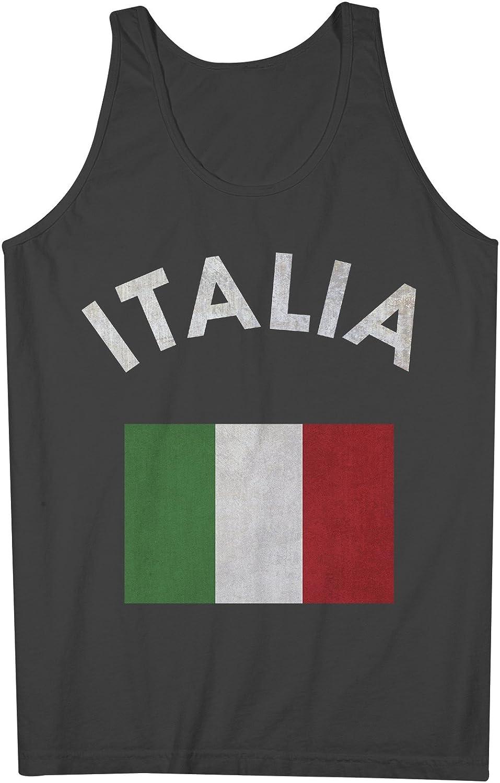 Italia Italy Italian Flag 男性用 Tank Top Sleeveless Shirt