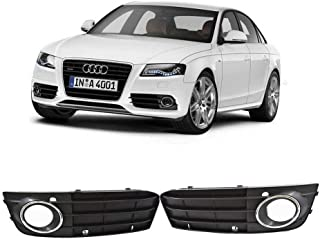 Pair Front Bumper Fog Light Grille Grill Cover for Audi A4 B8 A4L 2009-2012