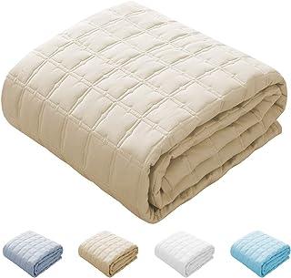 敷きパッド クイーン 綿100% ベッドパッド 汗取り敷きパッド 選べる4色 洗える 新生活 丸洗いOK 車中泊 ふっくら 防ダニ 抗菌防臭 (ベージュ, クイーン・160×200cm)