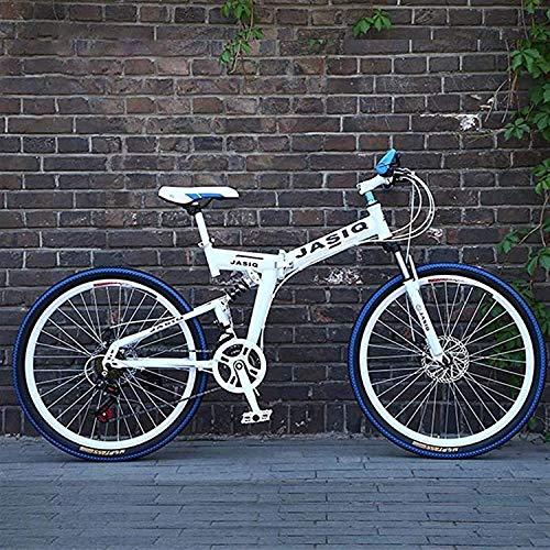 min min Bicicletas Plegables De Bicicleta De Montaña, Amortiguación De Freno De Disco Doble, Suspensión Total Antideslizante, Bicicletas De Carrera De Velocidad Variable Todoterreno