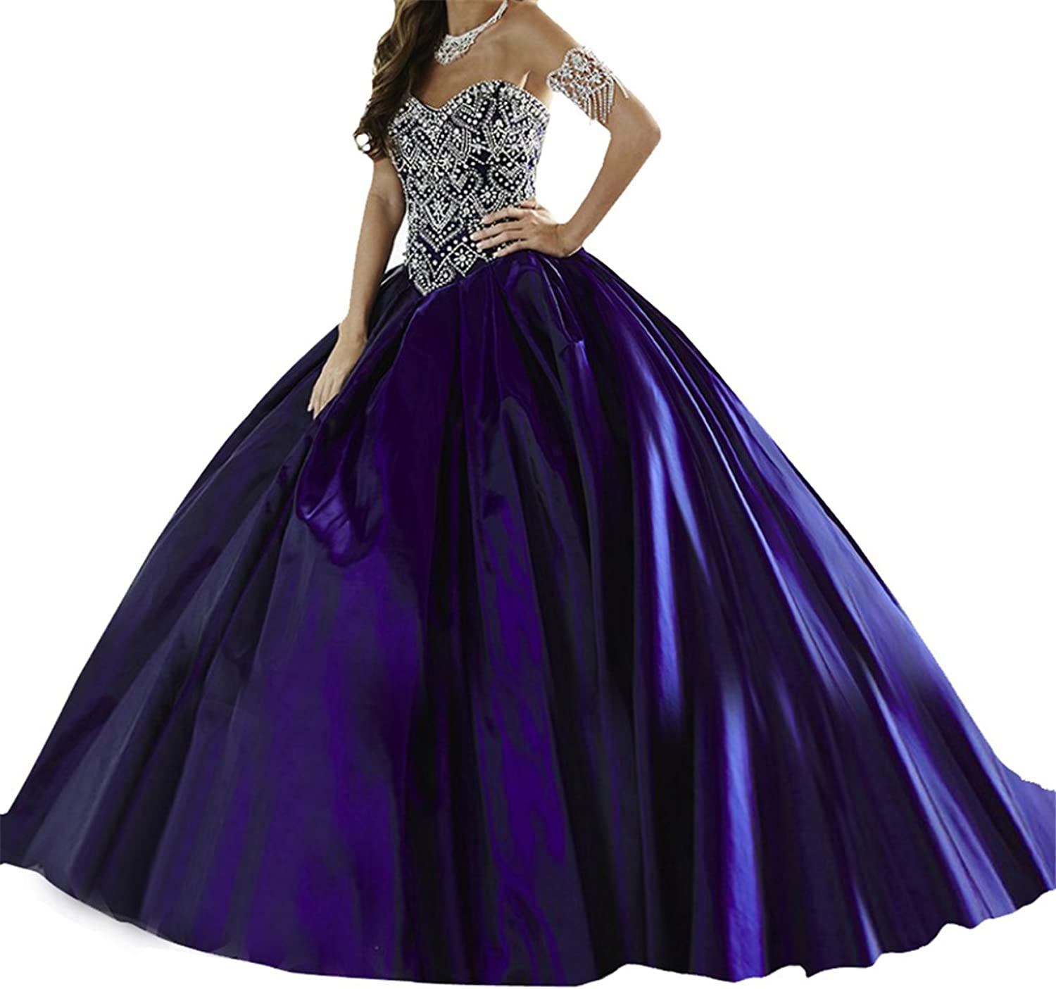 TuanYuan Women Sweetheart Empire Ball Gowns Pageant Quinceanera Dresses