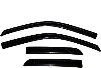 Auto Ventshade 94101 Original Ventvisor Side Window Deflector Dark Smoke, 4-Piece Set for 2009-2018 Dodge Ram 1500; 2019 Ram 1500 Classic , Fits Quad Cab