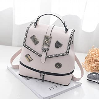 YTTY Oxford Cloth Shoulder Bag Men and Women Hit Color Bucket Backpack Korean Fashion Casual Student Computer Bag Camping & Hiking Camp Kitchen