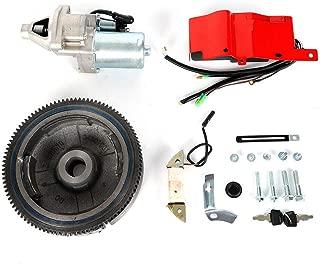 Electric Start Kit Flywheel w/Ring Gear +Key Switch For H-o-n-d-a GX340/390 11/13HP Electric Start Kit w/Solenoid Starter