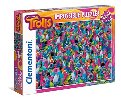Clementoni 39369 - Trolls - 1000 Teile Puzzle (schwer)