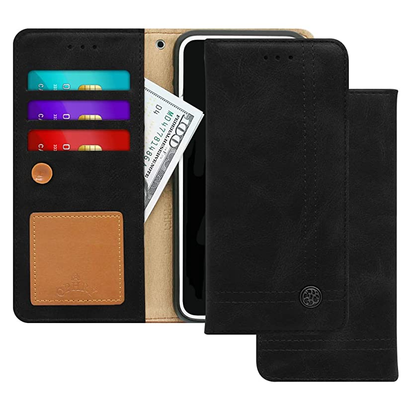 LG X Charge, X Power 2, Fiesta LTE, Fiesta 2, K10 Power Case [Free 9 gifts] TRIM LINE Flip Diary Cover with Slim Wallet Design [Octopus Ver.]–Card Holder, Cash Slots, Kickstand, Memo Pad-Aniline Black