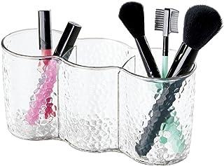mDesign organisateur de maquillage trio – rangement maquillage à 3 compartiments – idéal comme verre à dent ou comme range...