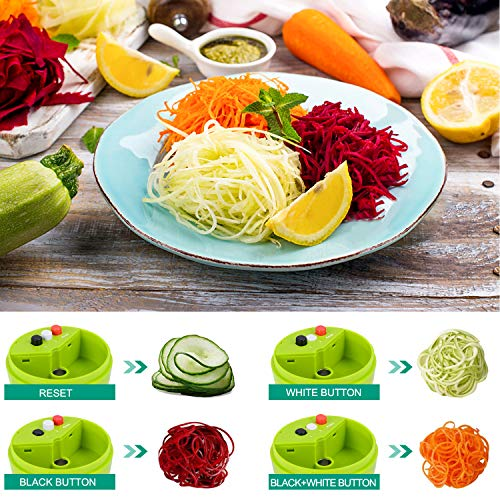 Product Image 3: Handheld Spiralizer Vegetable Slicer, Adoric 4 in 1 Heavy Duty Veggie Spiral Cutter – Zoodle Pasta Spaghetti Maker for Low Carb/Paleo/Gluten-Free Meals