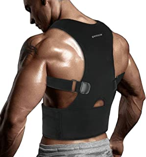 QNTICH Back Brace Posture Corrector Ceinture de soutien entièrement réglable améliore la posture et fournit ...