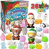 JOYIN 26 Pcs Mochi Squishy Including 23 Cute Mochi Animal Squishies and 3 Big Slow-Rising Squishy Toy