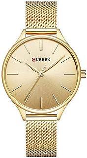 Relógio, Analógico, Curren, C9024L, Feminino, Dourado