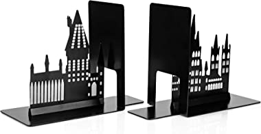 Harry Potter Hogwarts Castle Metal Bookends | Die Cut Metal Bookends With Hogwarts Castle Silhouette Glow In The Dark Design