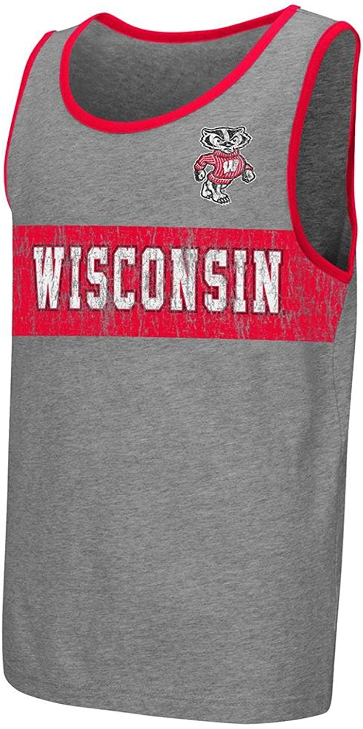 Colosseum Youth NCAA Wisconsin Badgers Tank Top (Heather Grey)