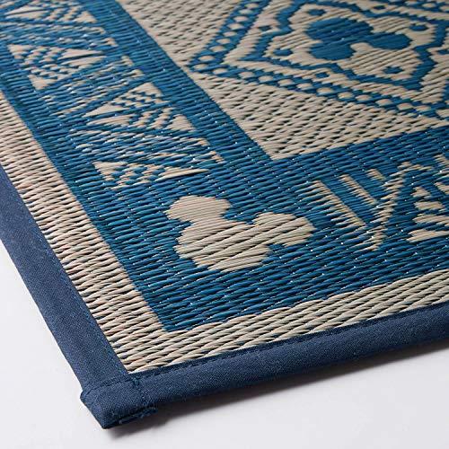 [ベルメゾン]ディズニーい草ラグイ草・畳マット日本製ネイビー系約191×250
