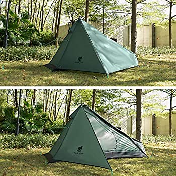 Geertop Upgrade Ultralight 3 Season 1 Person Tent for Camping Backpacking Hiking Traveling - Single Trekking Pole Tents (Not Inclure The Pole) Facile à Installer