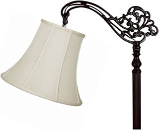 Upgradelights10 Inch Uno Lamp Shade Replacement in Eggshell Silk 6x10x7.5 (Uno)