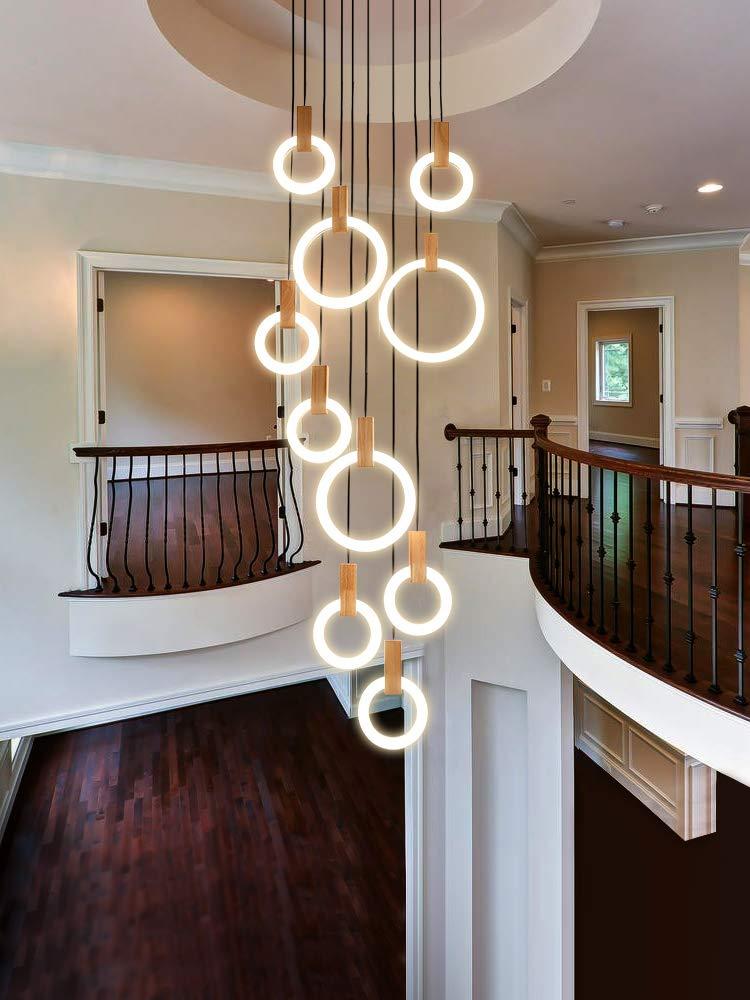 NA Escalera de la lámpara, la lámpara de Larga Duplex Edificio Grande Que la lámpara de la Sala de Estar Villa Arte Moderno Minimalista de la Escalera de la lámpara 60X270 Cm:
